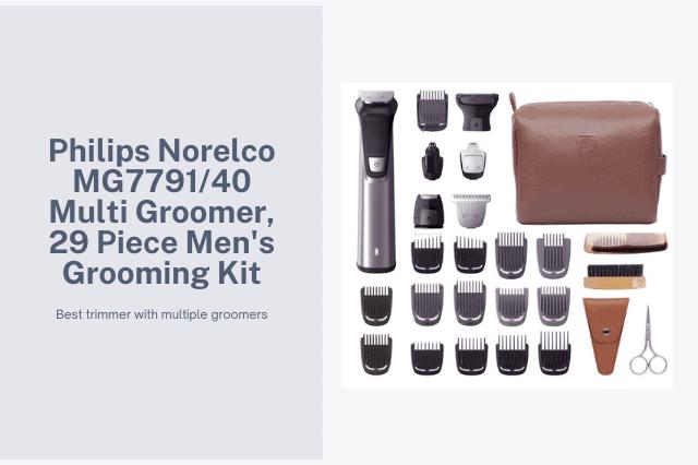 Philips Norelco MG7791/40 Multi Groomer, 29 Piece Men's Grooming Kit